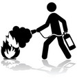 extinguishing fire vector image