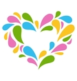 Festive Colorful Heart Icon Isolated on White vector image vector image