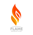Flame fire design luxury logo design vector image