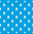 french fries pattern seamless blue vector image