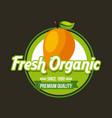 fresh organic food emblem image vector image vector image