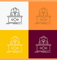game boss legend master ceo icon over various vector image