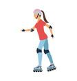 girl roller skate vector image