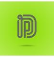 Graphic Line Font Logo Element Letter D vector image