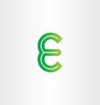 green letter e symbol design vector image vector image