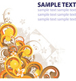 Grunge Floral Design with Text Space vector image vector image