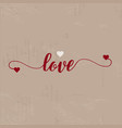 grunge love background vector image vector image