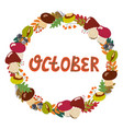 hand drawing lettering month october in a vector image vector image