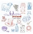 Hand drawn doodle Ireland symbols set vector image vector image