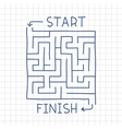Hand drawn labyrinth in notepad vector image vector image