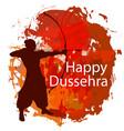 happy dussehra background concept vector image vector image