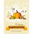 Happy Thanksgiving Day celebration flyer vector image vector image