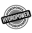 hydropower rubber stamp vector image