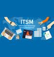 itsm information technology service management vector image vector image