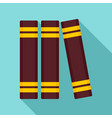 library book stand icon flat style vector image