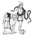 loki and his pets vintage vector image vector image