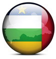 Map on flag button of Central African Republic vector image