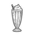 milk shake line art sketch