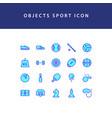 object sport filled outline icon set vector image vector image