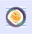 omelet sketch watercolor vector image