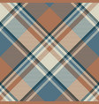 pastel color classic beige plaid seamless fabric vector image vector image