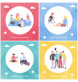 people in park youth camping and spending time vector image vector image