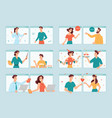 people online medicine and communication love vector image vector image