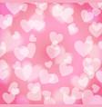 pink sweet bokeh heart pattern vector image