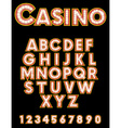 Retro Casino Font vector image vector image