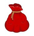 santa money bag sack symbol icon design vector image