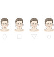 set different female face shapes vector image