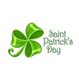 Shamrock bow made of green vector image vector image