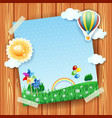 spring background with copyspace collage vector image