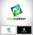 Square Logo Concept vector image vector image