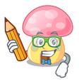 student fairy house mushroom on a cartoon vector image
