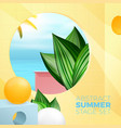 summer exotic room with paradise ocean view vector image vector image