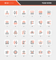 team work flat line web icon concepts vector image