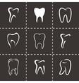 teeth icon set vector image