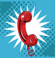 telephone pop art cartoon vector image