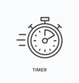 timer flat line icon outline vector image