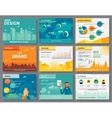 Urban design of infographics presentation slides vector image