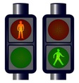Walking Man Traffic Lights vector image