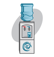 water cooler icon vector image