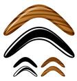 wooden australian boomerang icons vector image