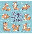 Yoga heals the soul vector image vector image