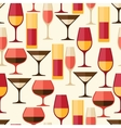 Restaurant or bar seamless pattern with different vector image