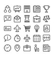 business and office line icons 6 vector image