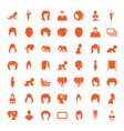 49 portrait icons vector image vector image