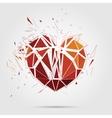 abstract broken heart 3d