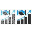 acquisition growth composition of dollars vector image